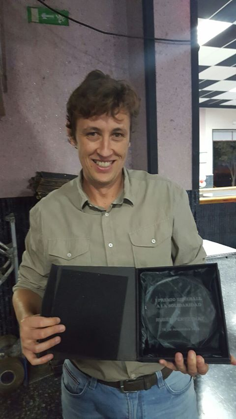 Rubén Pérez premio solidaridad
